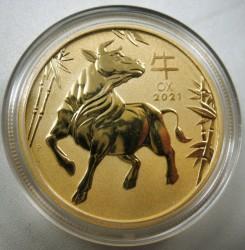 1 Oz Goldmünze Australien Lunar III Ochse