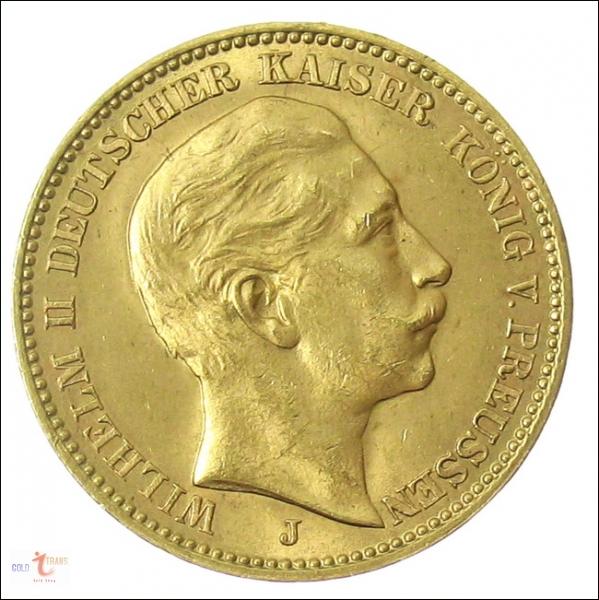 Kaiserreich Goldmünzen 20 Mark10 Mark 5 Mark Preise Ankauf Hamburg